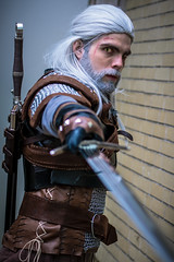 _DSC8932 (In Costume Media) Tags: geralt rivia witcher sowrd cosplay wizardworld dark videogame photography photoshoot warrior comiccon hot guy cool white sword