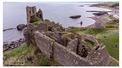 Dunure Ayrshire (James Edmond Photography) Tags: 2018 ayrshire blue drone dunure dunurecastle grass green jamesedmond landscape photography scotland scottish sea sky spring water