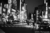 池袋西口 (✱HAL) Tags: om1 ilford xp2super400 film tokyo ikebukuro night taxi