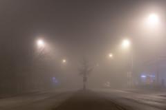 Pretty foggy last night (16.04.2018) (Siebbi) Tags: fog nebel street strase road night nacht light licht weather wetter