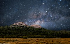the galactic centre over the pyramids (andrew.walker28) Tags: milky way stars galactic centre night sky girraweennationalpark queensland australia
