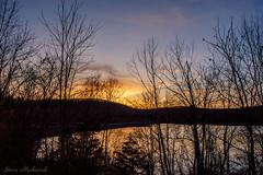 Monksville Sunset_3630 (smack53) Tags: smack53 monksville monksvillereservoir reservoir njstatepark water mountains silhouettes sky clouds longpondironworksstatepark lake springtime spring nikon d100 nikond100