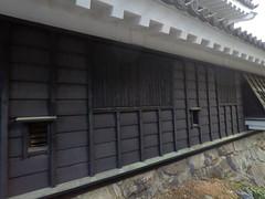 Castle west ports _orig_LG (Hazbones) Tags: iwakuni yamaguchi yokoyama castle kikkawa suo chugoku mori honmaru ninomaru demaru wall armor samurai spear teppo gun matchlock map ropeway