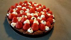 Tarte chocalat-fraises (Claire Coopmans) Tags: patisseries patisserie tartes tarte fraises fraise strawberry cacao chocolat biscuit sablée ganache belgique belgium