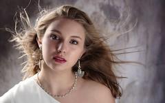 Portrait de Lucie (phonia20) Tags: girl woman beauty beautiful color studio look eyes hair blond face sexy pentax regard visage femme fille