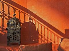 Moroccan lantern (JLM62380) Tags: morocco lantern stairs orange lanterne riad marrakech travel