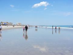 Cocoa Beach (RS Pictures) Tags: cocoa beach fl florida usa brevard county surf beachgoers reflection blue sky ocean