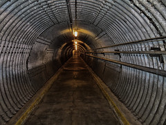 Blast Tunnel, Diefenbunker, Carp, Ontario (duaneschermerhorn) Tags: nuclear tunnel gritty dark corrugatedmetal metal concrete blast blasttunnel military canadian museum exhibition