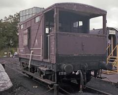 LNWR Brake Van, Cranmore West, 28 Jul or 3 Aug 1985 (Ian D Nolan) Tags: esr prinzflashmaticgt7 35mm epsonperfectionv750scanner railway cranmorewest lnwr 49026 station