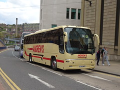 Andrews J2AOT Sheffield (Guy Arab UF) Tags: andrews tideswell j2aot volvo b10m plaxton panther coach bus commercial street sheffield buses hf51cgg amport district