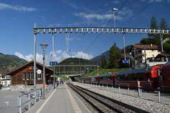 Tiefencastel Station (Guildfordian) Tags: tiefencastel switzerland spring albula