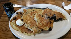 Wild Maine Blueberry Pancakes (Adventurer Dustin Holmes) Tags: 2018 crackerbarrel breakfast pancakes wildmaineblueberry blueberry butter buttery dickinsons wild maineblueberry wildblueberry meal