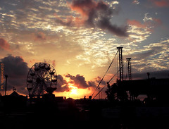"""Photo by White Angel """"Deserted Luna Park with Carousel wheel"""" (Angel & Jacob) Tags: whiteangel sunset tramonto lunapark carousel giostra ride photo photography fotografia foto picture cloudy clouds nuvole nuvola nuvoloso sky cielo ruota yourbestoftoday"""