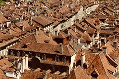 Sea of roofs (evakatharina12) Tags: bern switzerland suisse old city town houses roofs view minster cathedral