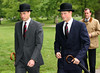 Prince William and Prince Harry arrive at the Cavalry Old Comrades Association Annual Parade in Hyde Park on May 13, 2007 in London, England. This is the 83rd Anniversary Of The Unveiling And Dedication Of The Memorial in Hyde Park. (Photo by Chris Jackson/Getty Images)