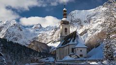 St. Sebastian (Bastian.K) Tags: zeiss loxia 85mm 24 loxia2485 loxia8524 kirche schnee winter ramsau berchtesgarden berchtesgardener nationalpark national park