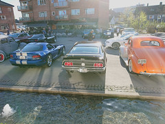 08.05.2018 ASCA meeting_2729Edit (mtbboy1993) Tags: amcar muscle cars meet biltreff ford mustang mach1 viper blue water city plaza byrommet byrom askim østfolld norway norge 1972 rawtherapee