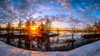 Kelosuo sunset in spring time (M.T.L Photography) Tags: sunset spring water sun sky snow trees reflection mtlphotography mikkoleinonencom panoramicphotography clouds swamp bog