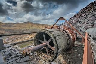 Slate mining in Llanberis