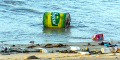 caribbean jetsam (rey perezoso) Tags: 2018 republicadominicana mar pollution jetsam caribe beach trash rubbish waste playa caribbean ocean can plastics sand hispaniola samaná praia atlantic