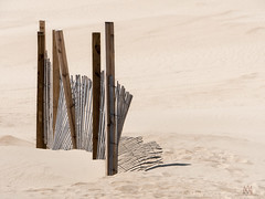 dunes (marianna_a.) Tags: dunes sand fence shadow pattern abstract landscape capehatteras usa mariannaarmata
