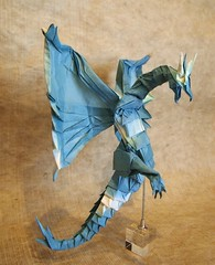 【Origami 】Wyvern (Lonely-Shiba) Tags: origami original fantasy 折り紙