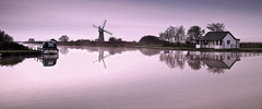 River Thurne looking at St Benet Mill (NGT Images) Tags: norfolk thurne thurnestaithe mill thurnemill stbenetmill reflection boats water norfolkbroads drainagemill stillwater landscape