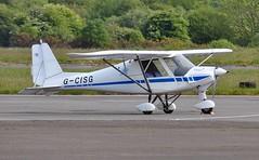 G-CISG (goweravig) Tags: gcisg visiting aircraft ikarus c42 swanseaairport swansea wales uk