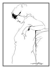 P1018052 (Gasheh) Tags: art painting drawing sketch portrait figure woman line pen gasheh 2018
