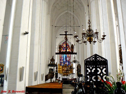 Interior of St. Mary's Basilica in Gdansk