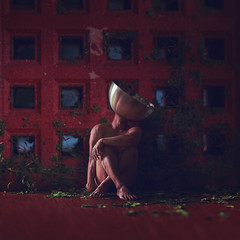 Asing. (Adam Hague) Tags: alien asing space weird selfportrait art 50mm boy man red surreal conceptual