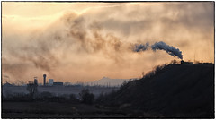 A Long, Slow Slog (Welsh Gold) Tags: st locomotive mine tailings train wulong colliery embankment hill twilight sunset fuxin liaoning province china