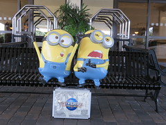 Fiberglass Sculptures of The Minions Bob and Kevin (Gerald (Wayne) Prout) Tags: theminionsbobandkevin holidayinnclubvacationsatorangelakeresort cityofkissimmee orangecounty florida usa fiberglass sculpture minions bob kevin holidayinn holidayinnclub club vacations orangelake resort orange county kissimmee prout geraldwayneprout canon canonpowershotsx60hs powershot sx60 hs digital camera photographed photography display stateofflorida universalstudios suitcase