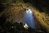 Light in the cave (cigno5!) Tags: light cave puglia green rays blue tree hole speleology stalagmite stalactite moss rocks altar ceiling illumination pinnacle darktable italy epic castellana grottedicastellana