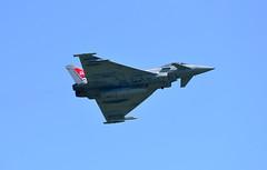 Typhoon FGR4 at Old Warden 2018 (rac819) Tags: eurofightertyphoon raf100 oldwarden shuttleworthcollection premierdisplay2018 airdisplays jetaerobatics aerobatics afterburner typhoonfgr4 fastjets 29squadron typhoondisplayflight