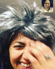 birthday eve rhodium giggles with my Farah (olive witch) Tags: 2018 abeerhoque apr18 april bday18 fem indoors night pair screenshot