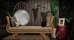 Loft & Aria  @ C88! (Yelo Uriza / Loft & Aria) Tags: boho gypsy rattan daybed mesh second life furniture virtual loftaria la virtualworlds virtualglamour virtuallife c88 collabor88