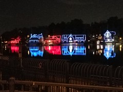 Carolina blue and red (Philadelphia Parks & Recreation) Tags: boathouserow lights bhr blue red carolina