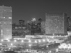 Southwest (andrey.senov) Tags: russia moscow city architecture building street night lights bw blackwhite blackandwhite россия москва город архитектура здание улица ночь фонари чернобелое fujifilm fuji x10 fujifilmx10