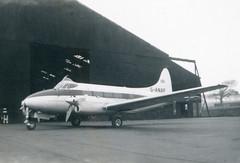 G-ANAP. MTCA de Havilland DH.104 Dove 1B (Ayronautica) Tags: ministryoftransportandcivilaviation 1956 october ganap mtca dehavillanddh104dove1b egpk pik prestwick scanned aviation ayronautica