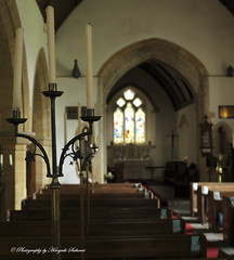 Candles; St. Michael's Church, Enmore, Somerset (hasselfan) Tags: church nave architecture candles bokeh blur hasselblad500cm distagoncf50mmf4 cfv50c