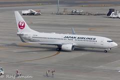 JA308J Boeing 737-800 Japan Airlines Fukuoka airport RJGG 06.04-18 (rjonsen) Tags: plane airplane aircraft aviationa irliner airside airport