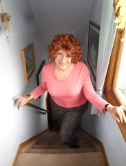 "Also ""Just Me"" (Laurette Victoria) Tags: sweater leggings redhead curly woman laurette"