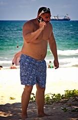 Man on phone (LarryJay99 ) Tags: 2018 beach streets people ftlauderdale ocean atlanticocean bear bearmen back shirtless tatts tattooes tattoos hairy man glasses sunglasses shore belly bellybutton navel nape peeking peekingpits peekingnipples sagging butts bulge bulges bulging buttsinclothes