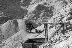 MIning District (joeqc) Tags: tecopa fuji xt20 xf18135f3556 deathvalley black bw blancoynegro blackandwhite white monochrome mine mining mojave mono greytones
