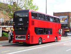 SLN 12383 - YX16OGY - OSR - A2 NEW CROSS ROAD - FRI 11TH MAY 2018 (Bexleybus) Tags: stagecoach london a2 new cross road adl dennis enviro 400 mmc hybrid tfl route 53 12383 yx16ogy