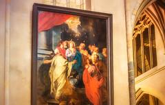 Pfingstereignis - Komm heiliger Geist (videamus) Tags: gemälde pfingsten pfingstereignis bildliche darstellung katholische kirche limburg provinz heiliger geist feuerzungen sint christoffel kathedraal bisdom roermond nederland
