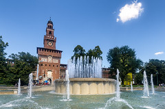 Fontana di Piazza Castello (ManuelHurtado) Tags: countries places architecture building castle city cityscape europe european facade fountain historic historical history italian italy landmark milan monument sforza street tourism tower travel urban milano lombardia italia it