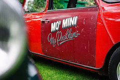 """Mo' Mini, Mo' Problems"" (Eric Flexyourhead) Tags: vancouver canada britishcolumbia bc vandusenbotanicalgarden 2018 allbritishfieldmeet abfm car motor detail fragment british english mini vintage retro old weathered worn patina red sonyalphaa7 zeisssonnartfe55mmf18za zeiss 55mmf18"