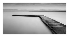 West Kirby Landing Jetty (Charles Connor) Tags: westkirby westkirbymarinelake wirral jetty landingjetty monochromeseascapes monochromelandscape monochrome blackandwhite contrast smoothwater smooth longexposure 10stopndfilter minimalism canon5d3 canonef24105mmlens